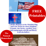 Free Printables. Pledge of Allegiance (American Flag, Christian Flag, Bible)