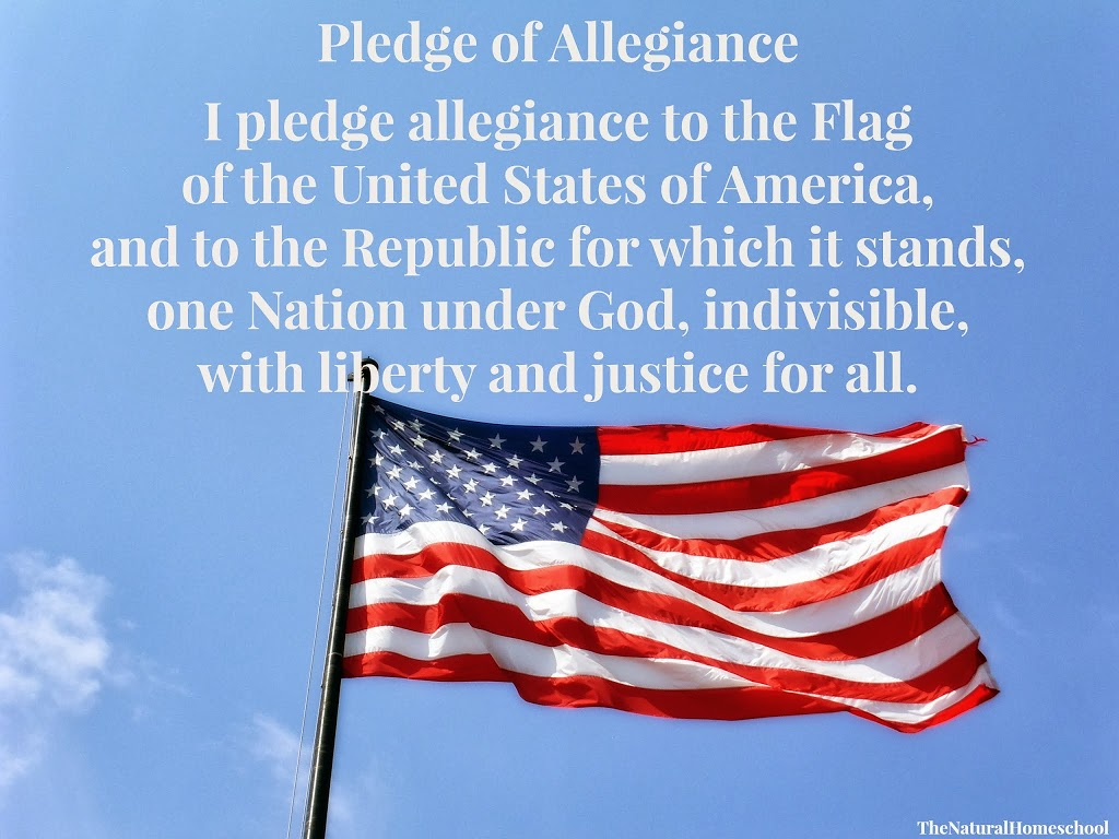 Free Printables. Pledge of Allegiance (American Flag, Christian ...