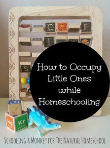 How to Occupy Little Ones with Homeschooling