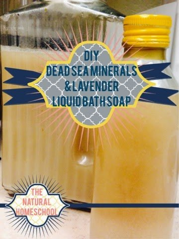 DIY dead sea minerals & lavender gel