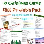 10 Christmas Carols Free Printable Pack