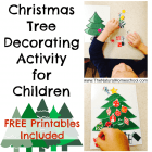 Christmas Tree Decorating Activity for Children
