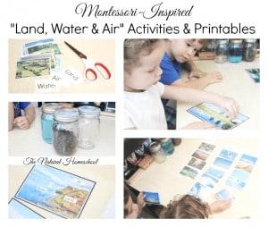 "3 Montessori-Inspired ""Land, Water & Air"" Activities & Printables"