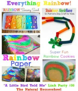 """A Little Bird Told Me"" Wednesday Link Party #30: Everything Rainbow!"