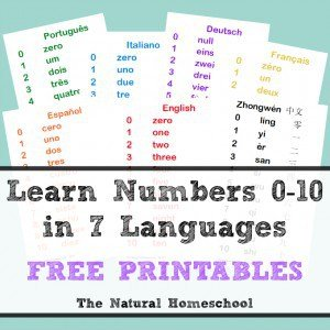 Learn Numbers 0-10 in Seven Languages (Free Printables)