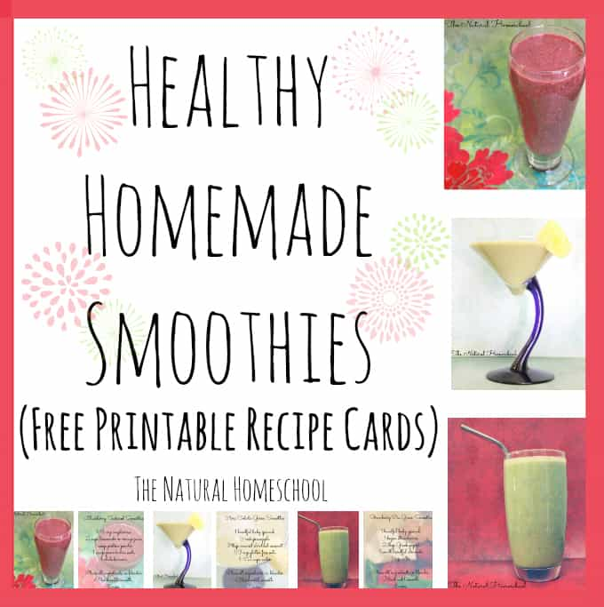 Healthy Homemade Smoothies Free Printable Recipe Cards