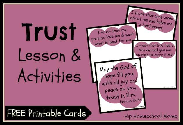 quot Trust quot 3Part Lesson amp Activities