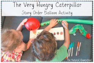 The Very Hungry Caterpillar: Story Order Balloon Activity