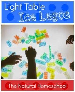 Light Table Ice Legos