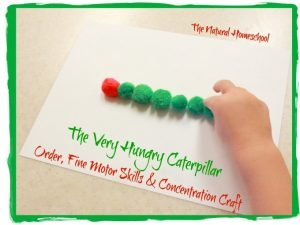 The Very Hungry Caterpillar Pom-Pom Craft