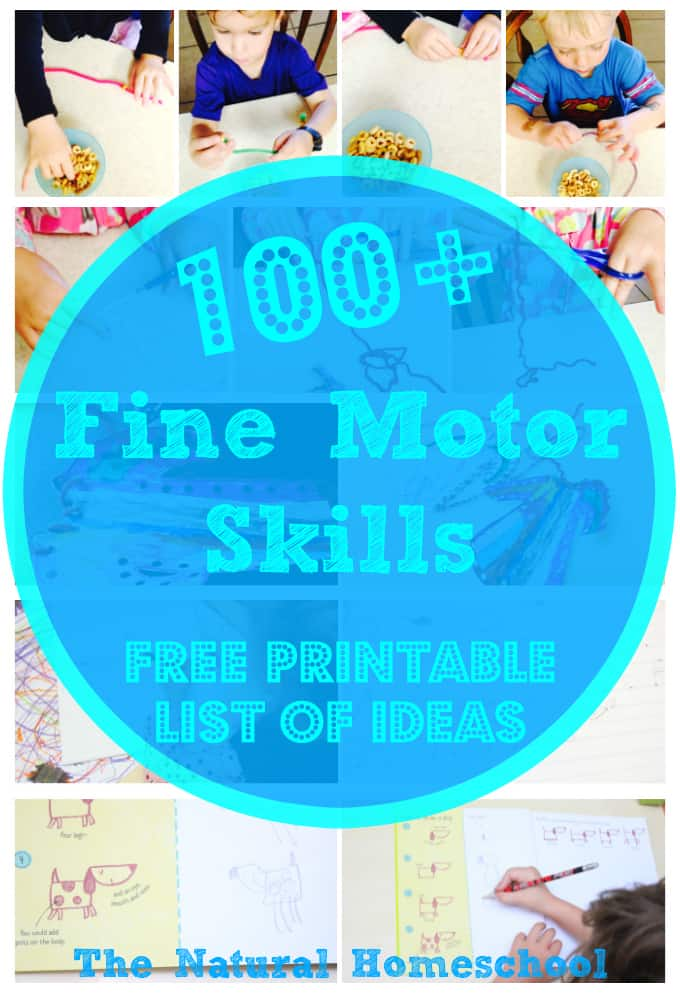 100 fine motor skills for toddlers free printable list the natural homeschool. Black Bedroom Furniture Sets. Home Design Ideas