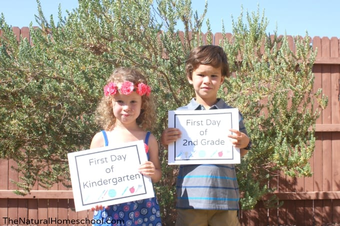 First Day of School {Free Printable Cards}
