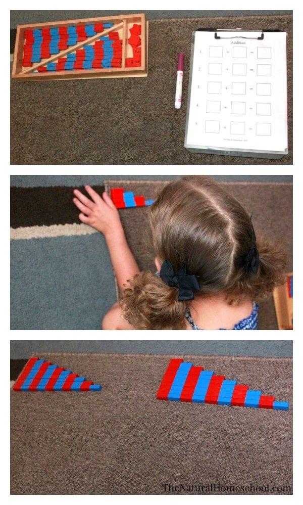 Montessori Math Lessons for Addition {Free Printables}