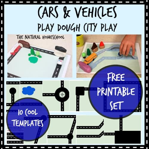 Play Cars Games {Free Printables for Play Dough}