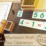 Four Operations: Subtraction – Montessori Free Printable