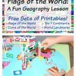Country Flags of the World: A Fun Geography Lesson {Free Printable Flag Cards}