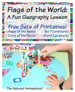 Flags of the World: A Fun Geography Lesson {Free Printable Flag Cards + GIVEAWAY}