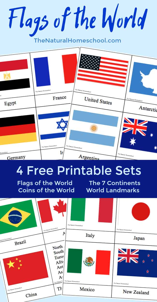 Country Flags of the World: A Fun Geography Lesson {4 Free Printable Sets}