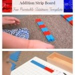 Montessori Math Lessons for Addition {Free Printables}