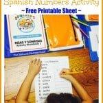 Spanish Interactive Activities {Free Number Printable Sheet}