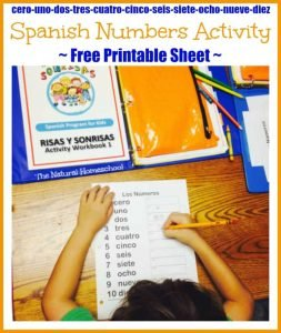 Spanish Number Activity {Free Printable Sheet}