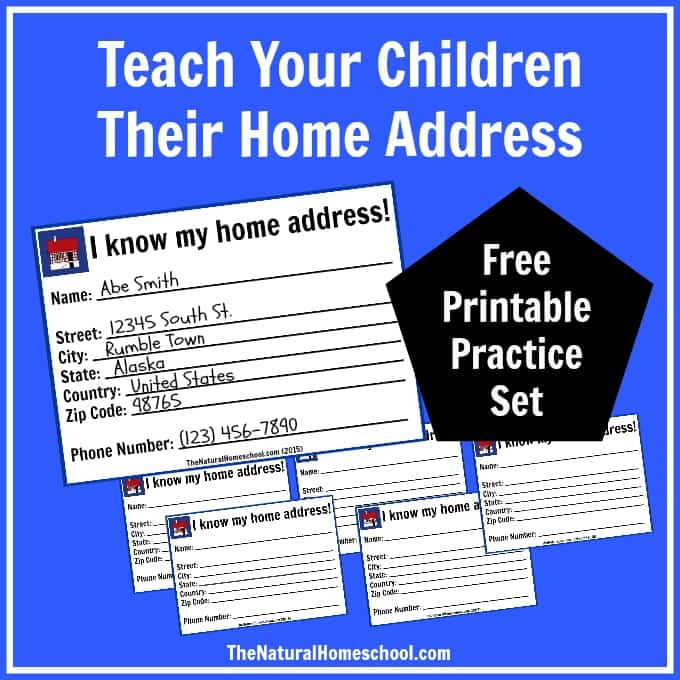 My Home Address Lesson Free Printable Cards The