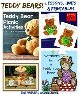 Lessons, Printables & Coloring Pages about Teddy Bears! {Link Party #64}