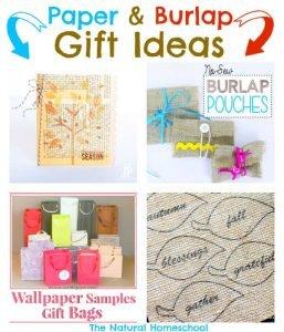 Paper & Burlap Gift Ideas! {Link Party 65}