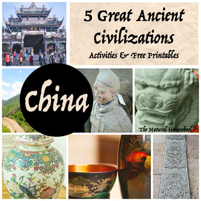 5 Great Ancient Civilizations free printable art activities kids