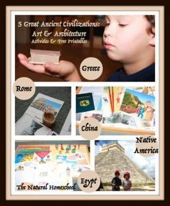 5 Ancient Civilizations {Free Printable Art Activities for Kids}