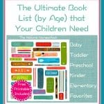 The Ultimate Book List (by Age) that Your Children Need {Free Printable Reading Log}
