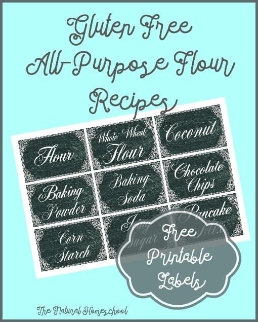 gluten free flour recipes pin
