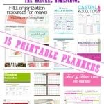 Let's Get Organized! 15 Free Printable Planners {Link Party 73}
