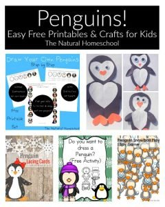 Penguins! Easy Free Printables & Crafts for Kids {Link Party 74}