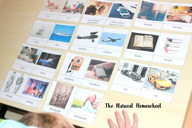 History about Past and Present the Montessori Way {Free Printables}