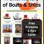 A Brief History of Boats and Ships {Free Printables}
