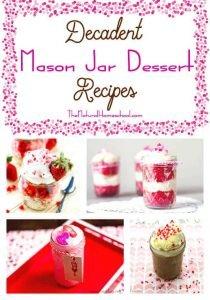 Decadent Mason Jar Dessert Recipes {Link Party 77}
