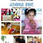 Five Beautiful Homeschool Schedule Ideas {Link Party #79}