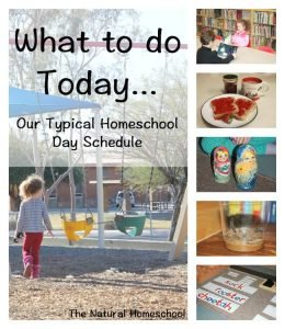 What to do today… Our Typical Homeschool Day Schedule