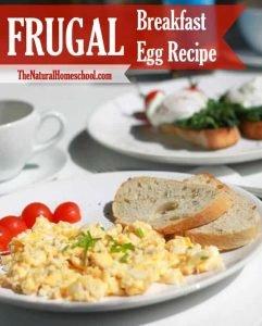 Frugal Breakfast Egg Recipe