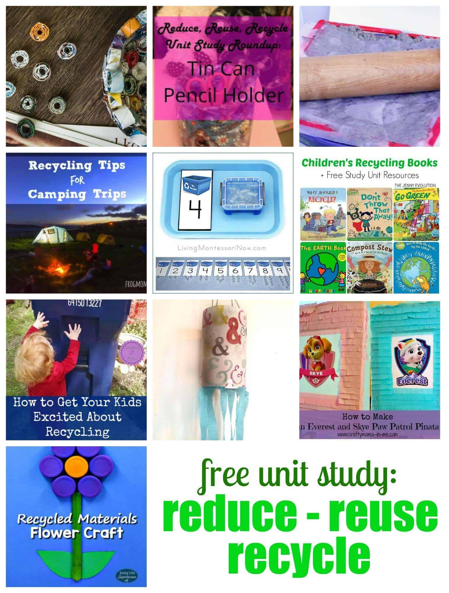Simple fun recycled magazine crafts for the family the for Reduce reuse recycle crafts