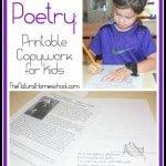 Poetry: Printable Copywork for Kids
