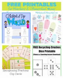 Free Printables for Teachers & Homeschool Moms {Link Party 89}