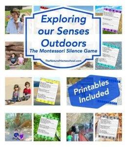 Exploring our Senses Outdoors (Montessori Silence Game) – Printables