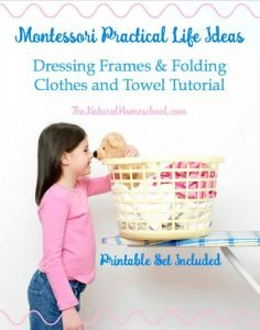 Montessori Practical Life Ideas – Dressing Frames & Folding {Printables}