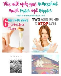 This will make your homeschool much easier and happier {Link Party 97}