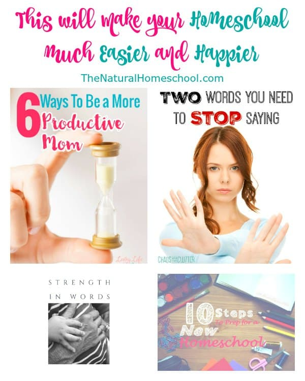 This will make your Homeschool much Easier and Happier