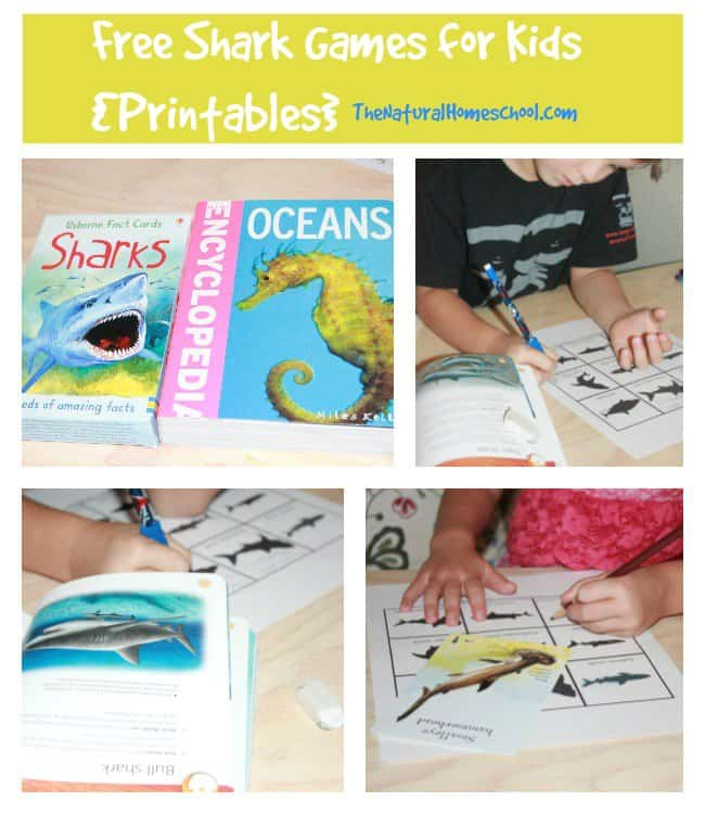 shark games printable