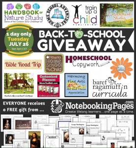 HUGE Back-to-School HOMESCHOOL GIVEAWAY {TODAY ONLY}