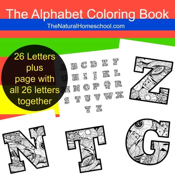 Kids' Alphabet Coloring Pages {Printable}